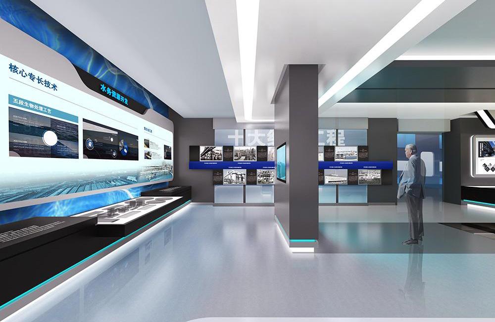 科技风企业展厅设计效果图
