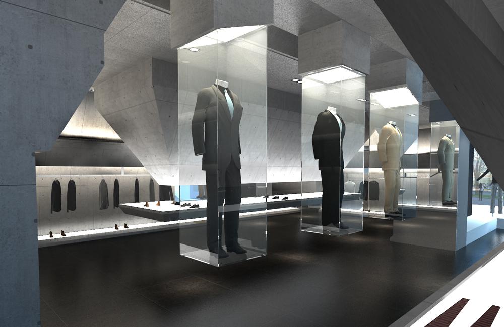 郑州服装展厅设计效果图