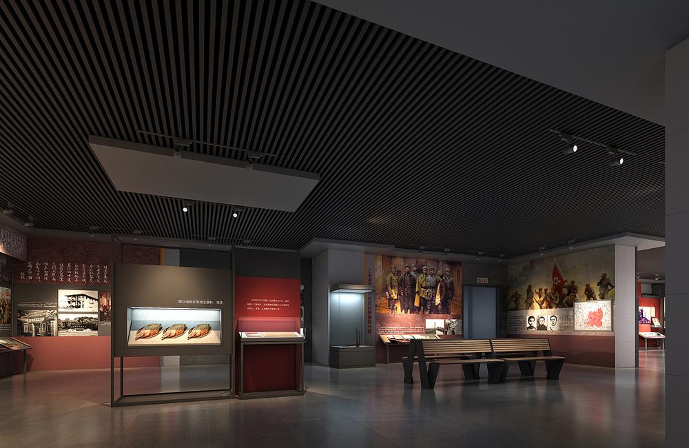 爱国主义教育展厅设计效果图