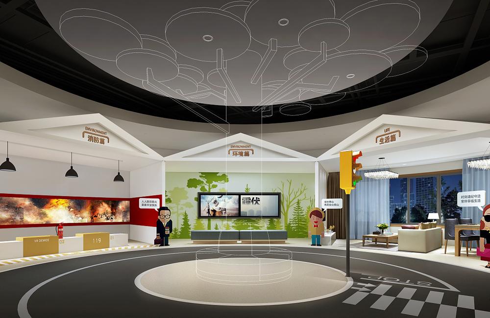670平米司法教育展厅设计效果图