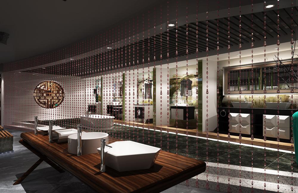 230平米卫浴展厅设计效果图