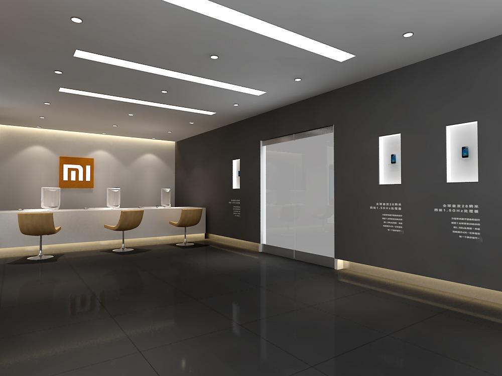320平米小米手机展厅设计效果图