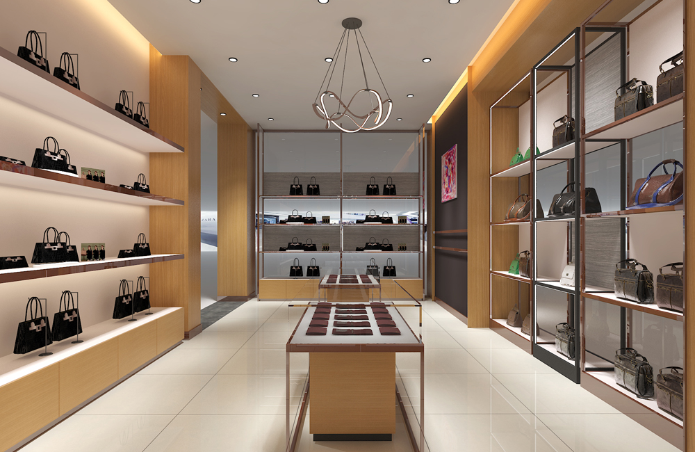 35平米皮具包包展厅设计效果图